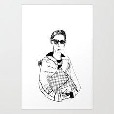 Bag Lady Art Print
