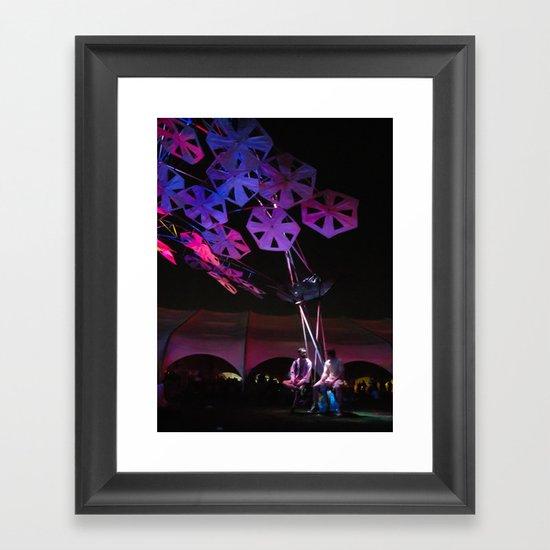 purple paper ponder Framed Art Print