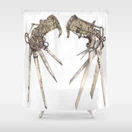 Scissorhands (Sepia) Shower Curtain
