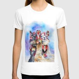 Cute Alpacas friends in Watercolor T-shirt
