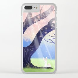 Soft Light On Soft Bunnies In Aloquil's Glades Clear iPhone Case