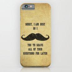 Moustache Questions Slim Case iPhone 6s