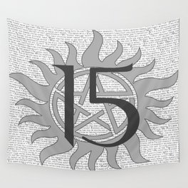 SPN Print (Grey) Wall Tapestry
