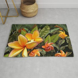 Hawaiian Plumeria at First Light Rug