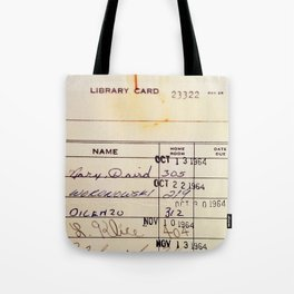 Library Card 23322 Tote Bag