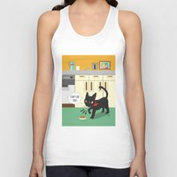 kitchen Tank Tops featuring In the kitchen by BATKEI