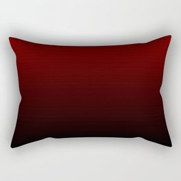 Modern Burgundy Black Ombre Rectangular Pillow