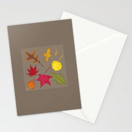 Autumn. Leaves. Stationery Cards