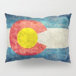 Grungy Colorado Flag Pillow Sham