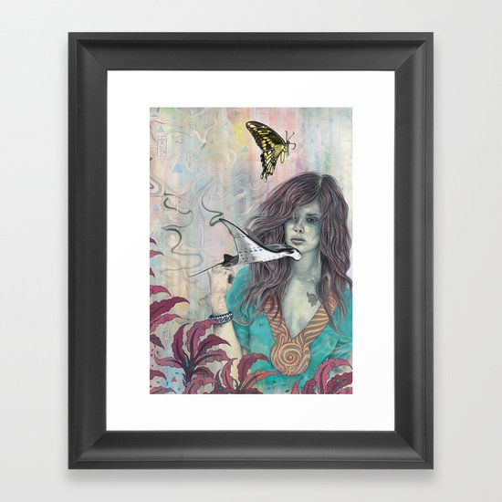 Solid Air Framed Art Print