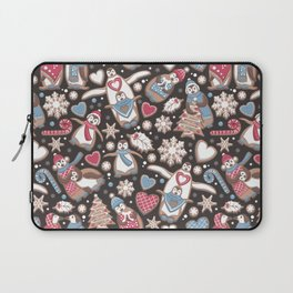Penguin Christmas gingerbread biscuits Laptop Sleeve