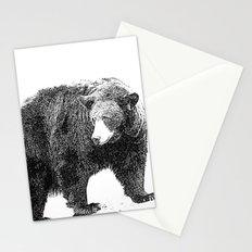 Black and White Bear Stationery Cards
