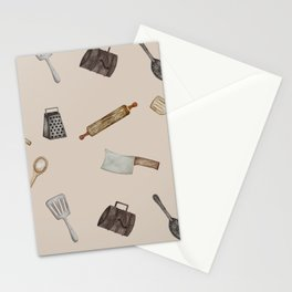 Watercolor Kitchen Utensils Stationery Cards