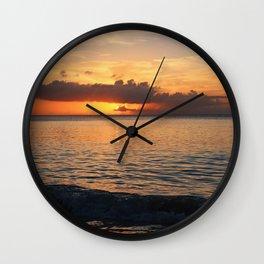 A Cayman Sunset Wall Clock