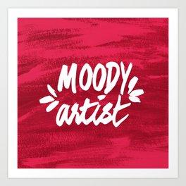 Moody Artist Magenta Art Print