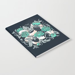 Berries and Snake Florals Notebook