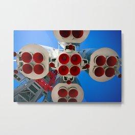 Vintage Spaceship Rocket-Motor Nozzles Metal Print