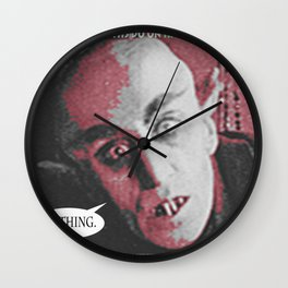 "'Count Orlock, the Vampire #2' from "" Nosferatu vs. Father Pipecock & Sister Funk (2014)"" Wall Clock"