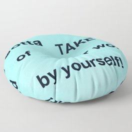 Fly: Yourself Floor Pillow