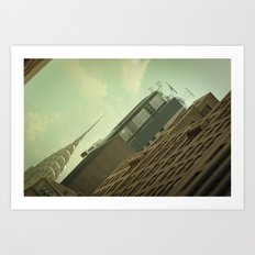 Skewed view Art Print