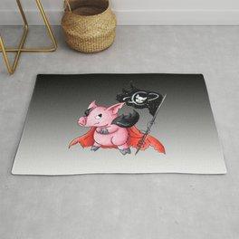 Space Pirate Piggy Rug