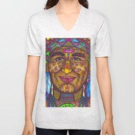 Wisdom Keeper of Leadership (Color) Unisex V-Neck