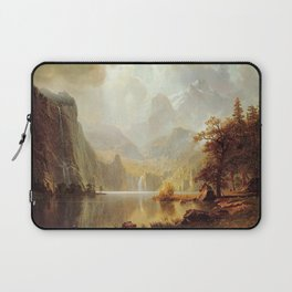 In The Mountains 1867 By Albert Bierstadt | Reproduction Painting Laptop Sleeve
