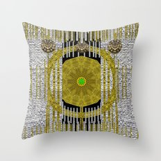Gold and silver is the way to heavenly feelings Throw Pillow