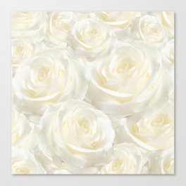 Ivory Roses Canvas Print