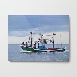 Traditional fishing boat off Tenerife in the Canary Islands Metal Print