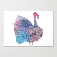 turkey Canvas Prints featuring turkey by Lucy Feebs