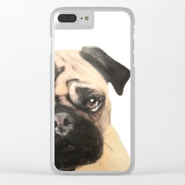Pugging Love Clear iPhone Case