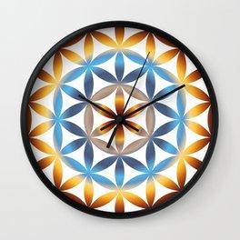 Rainbow seed of life pattern Wall Clock