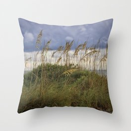 Longboat Sea Oats Throw Pillow