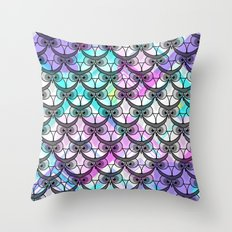 Frowning owls Throw Pillow