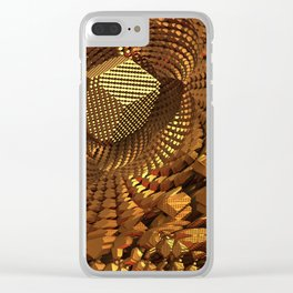 Gold Mine Clear iPhone Case
