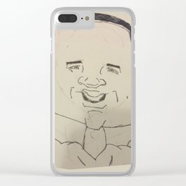 Earl Thomas Caricature Clear iPhone Case
