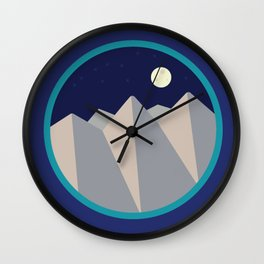 Day Mountain, Night Mountain Wall Clock