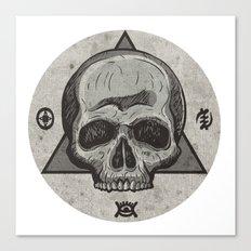 Skull & symbols Canvas Print