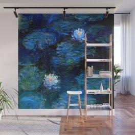 monet water lilies 1899 Blue teal Wall Mural