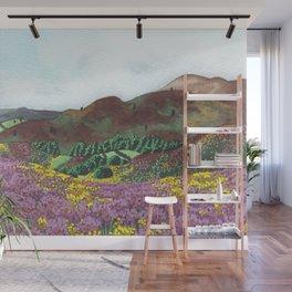 Heather Hills Landscape watercolour Wall Mural