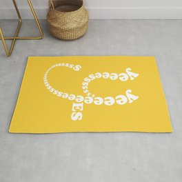 Yes Yes Yes ... (in a playful and fun typography design theme) Rug
