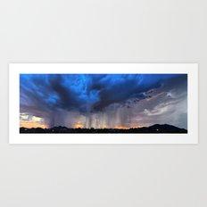 Monsoon Showers Over the Western Skyline Art Print