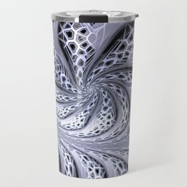 Crackles swing, fractal stuctured abstract Travel Mug