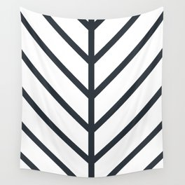 Leaf White Wall Tapestry