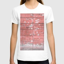 Antique Red Wooden Gate Rome Italy T-shirt