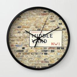 Middle Yard - London Wall Clock