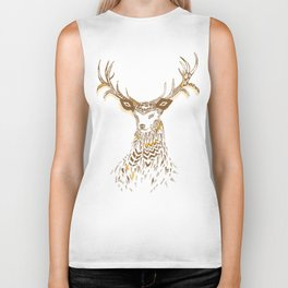 Tribal Deer Biker Tank