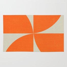 mod petals - orange Rug