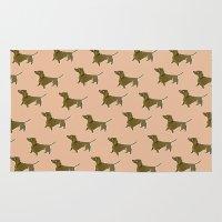 dachshund Area & Throw Rugs featuring Dachshund by Emma Pennington